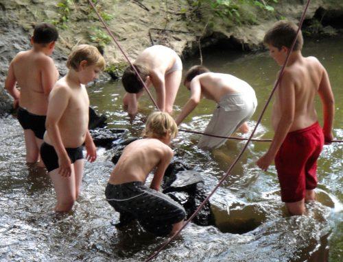 Jungstrupp erneuert Staudamm