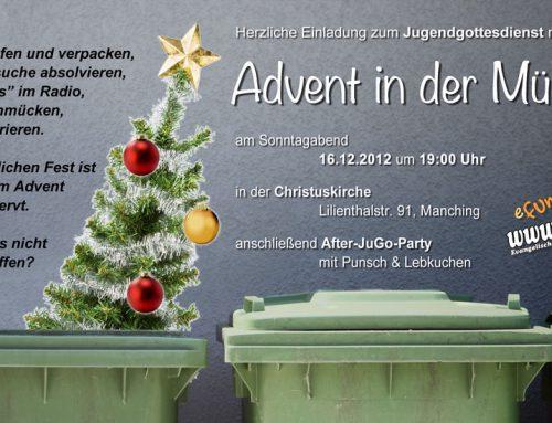 Advent in der Mülltonne