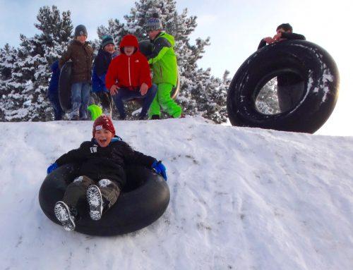 Schnee genutzt – Reifengerutscht