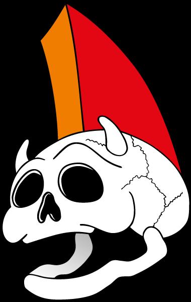 Maskottchen SMART als Totenkopf